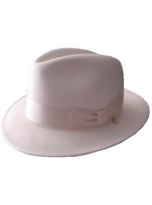Classic Fedora Hat - White
