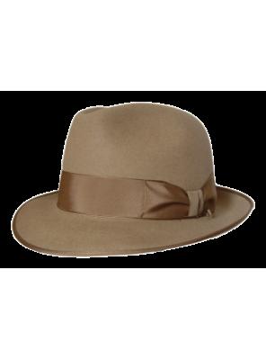 Classic Fedora Hat - Tan
