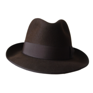 Classic Fedora Hat - Brown