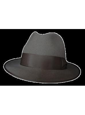 Classic Fedora Hat - Grey
