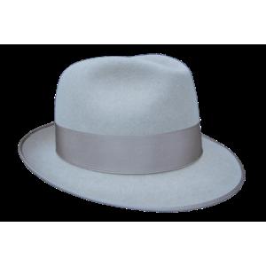 Classic Fedora Hat - Silver Grey