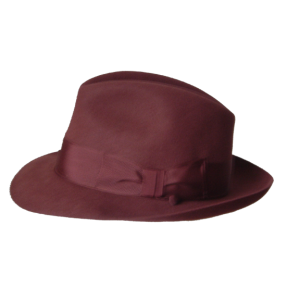 Classic Fedora Hat - Wine