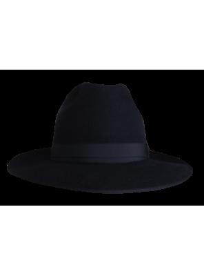 Classic Wide Brim Hat - Black