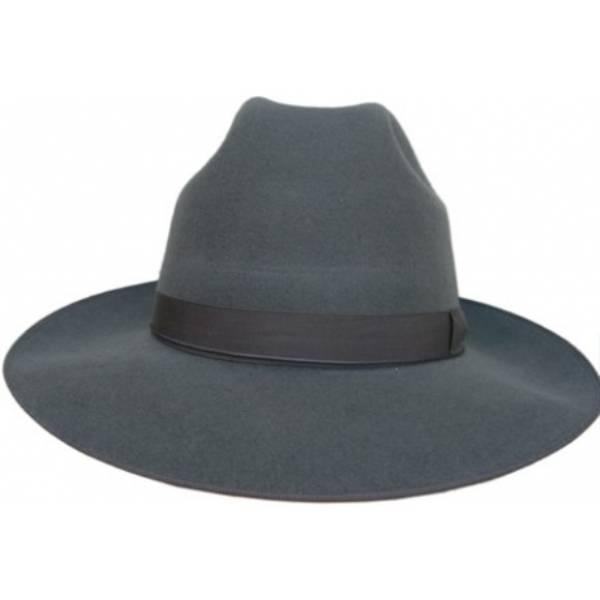 Classic Wide Brim Hat - Grey