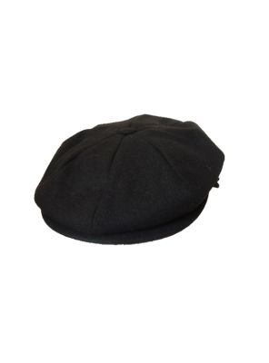 Melton 8 Section Cap - Black