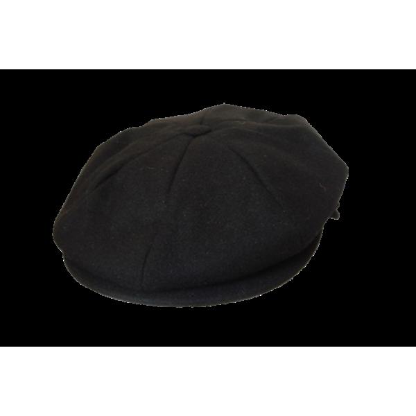 Melton 8 Section Cap - Black