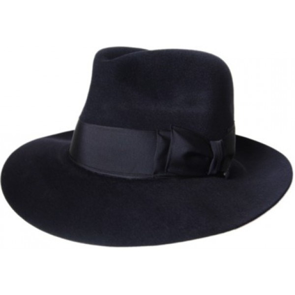 Antelope Felt Hat - Navy