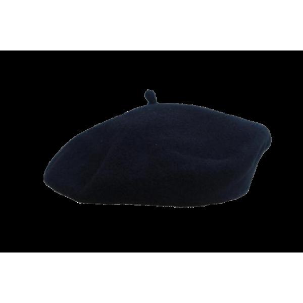"9"" Wool Beret - Black"