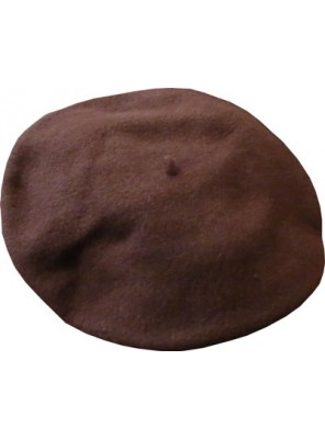 "11"" Wool Beret - Brown"