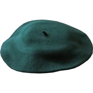 """11"""" Wool Beret - Green"""