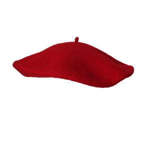 "11"" Wool Beret - Red"