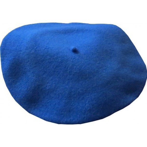 "11"" Wool Beret - Royal Blue"