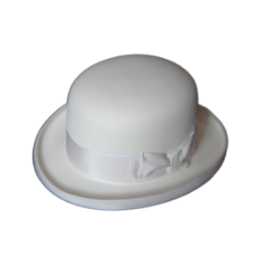 Derby Hat - White