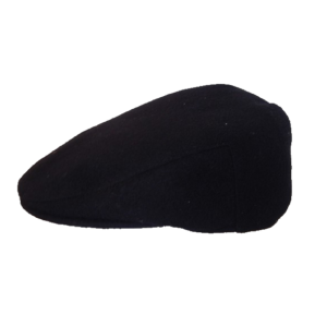 Melton Flat Cap - Black