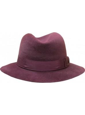 Fedora Hat - Burgundy