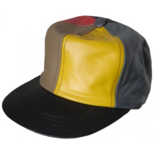Leather Base Ball Cap - Multy Coloured