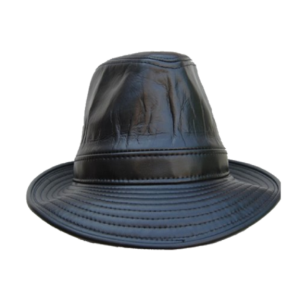 Leather Trilby - Black