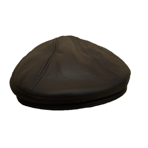 Flat Cap - In Brown Leather