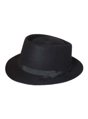 Pork Pie Hat - Black