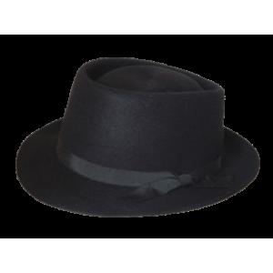 Pork Pie Hat - Black