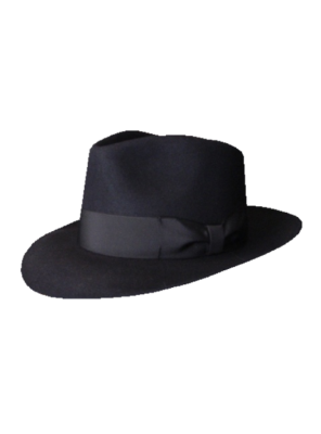 Low Crown Fedora Hat - Black