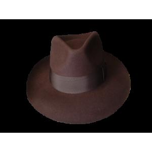 Low Crown Fedora Hat - Brown