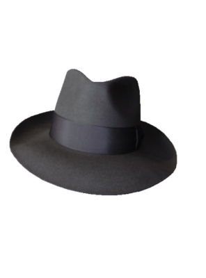 Low Crown Fedora Hat - Grey