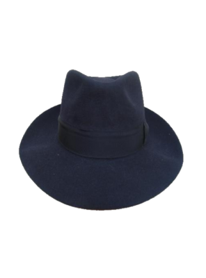 Low Crown Fedora Hat - Navy