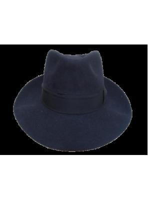 Low Crown Fedora Hat - Navy