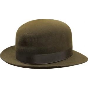 Open Crown Fedora Hat - Brown