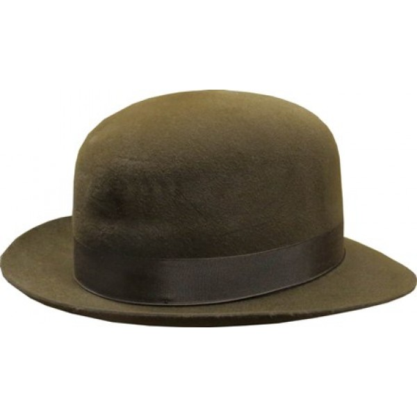 Open Crown Fedora Hat - Brown