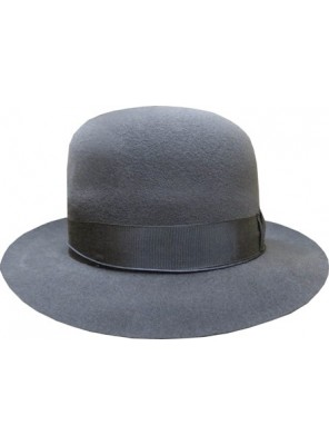 Open Crown Fedora Hat - Grey