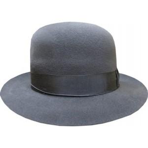 Open Crown Fedora Hat - Grey