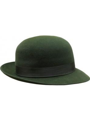 Open Crown Fedora Hat - Green