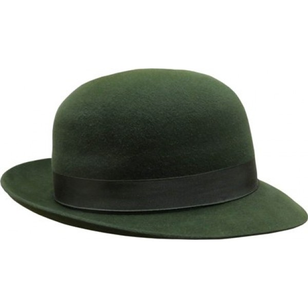 Open Crown Fedora Hat - Green