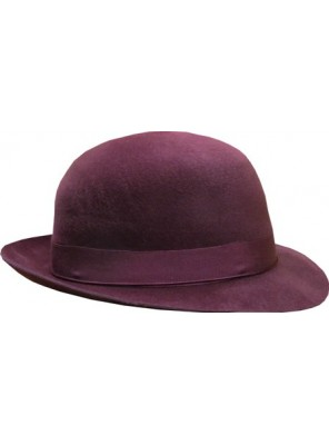 Open Crown Fedora Hat - Maroon