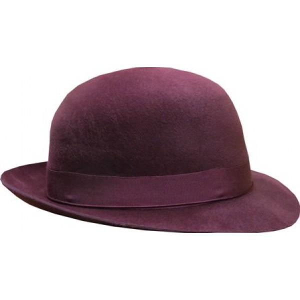 Open Crown Fedora Hat - Maroon