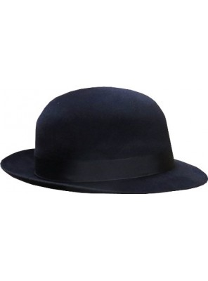 Open Crown Fedora Hat - Navy