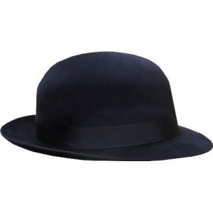 Open Crown Fedora Hat - Navy