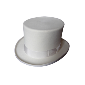 Top Hat - White